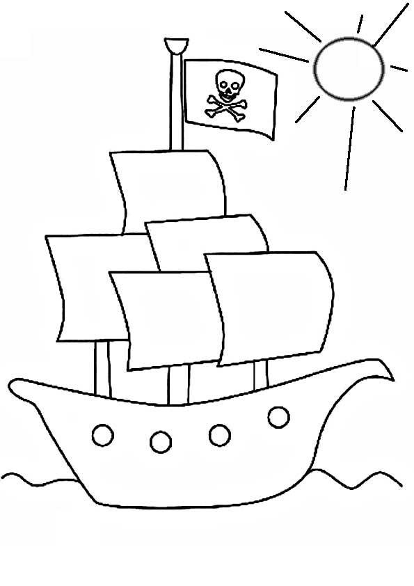 Выкройка пиратского корабля