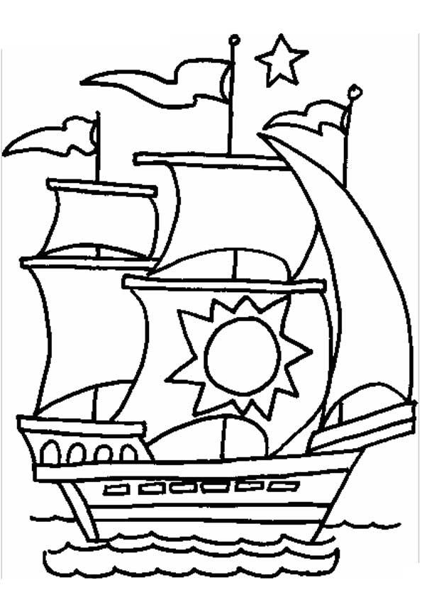 Пиратские корабли для раскраски