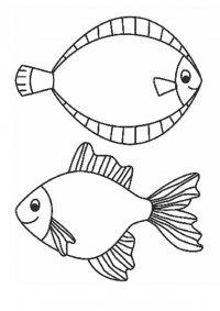 Картинки раскраски с морскими рыбами