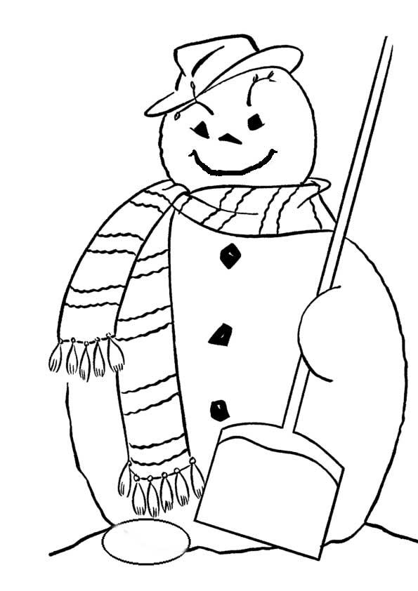 Раскраска снеговиков без носов