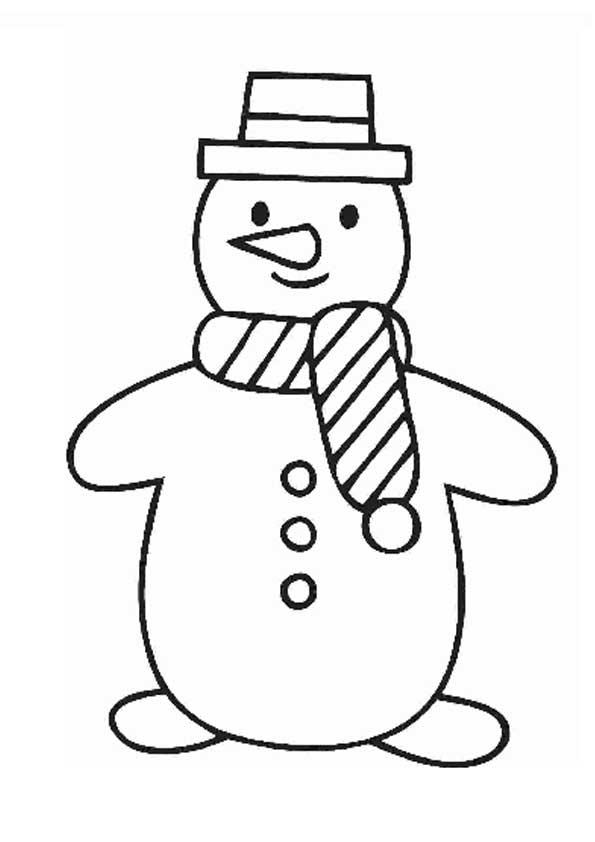 Рисунки снеговика для раскраски