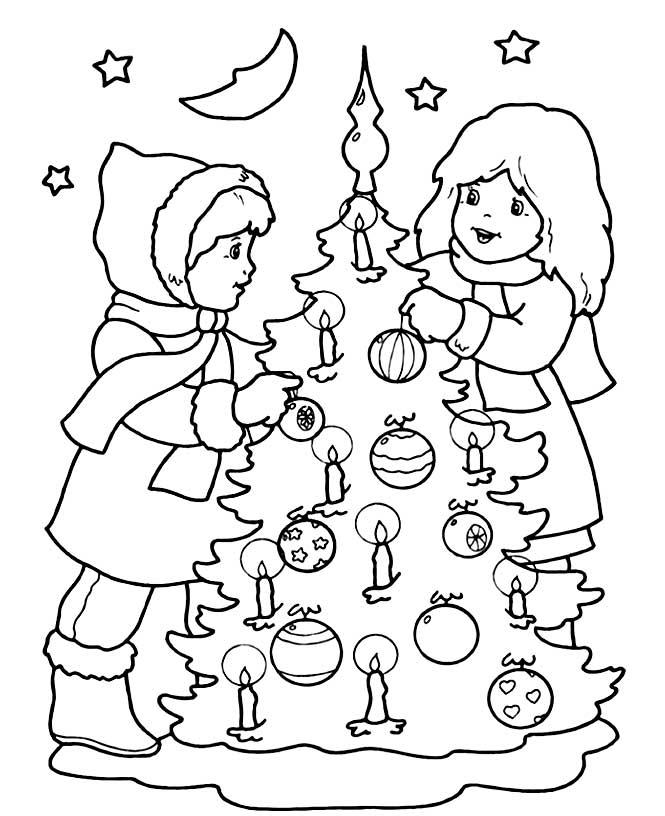 Картинки раскраски про новый год для детей
