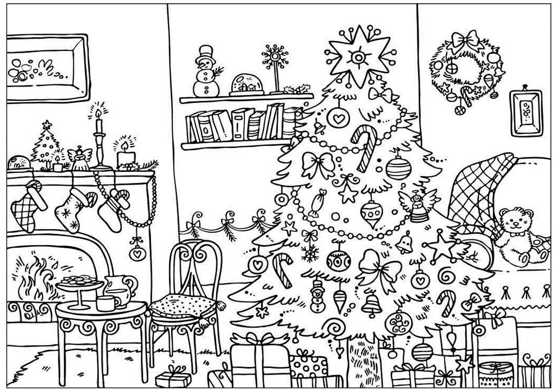 Сложные рисунки на новый год