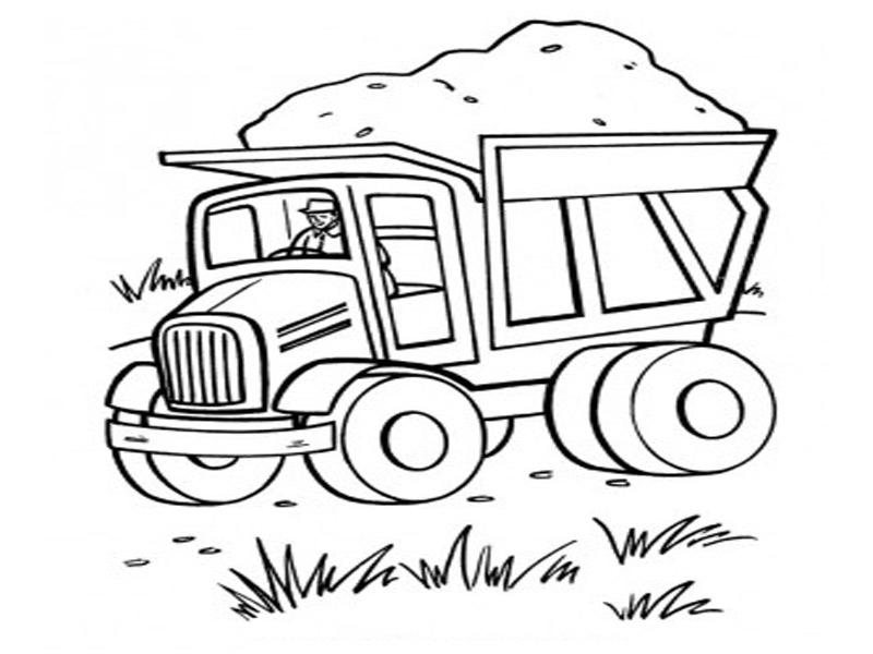 Раскраска грузовик для малышей распечатать - 3