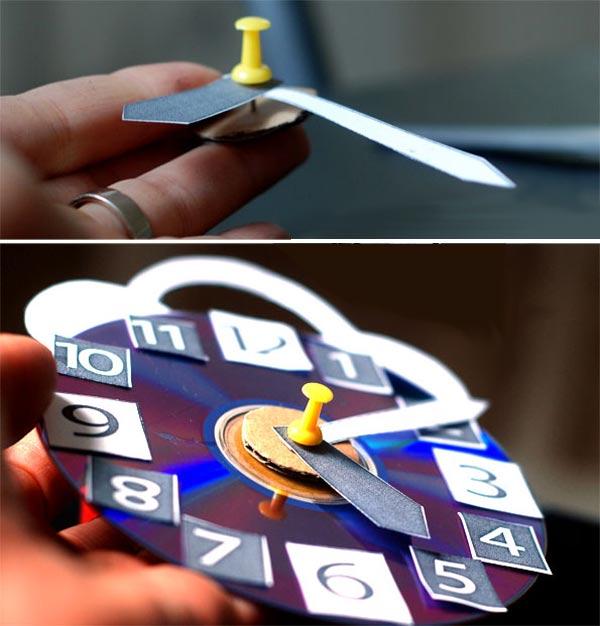 Как сделать часы картон 165