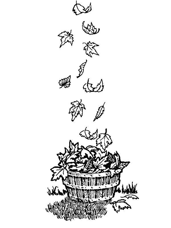 Уборка листьев в саду осенью картинки