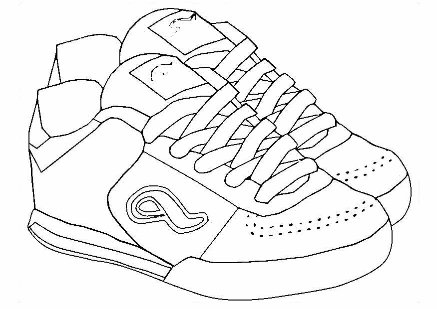 Картинки обуви раскраски