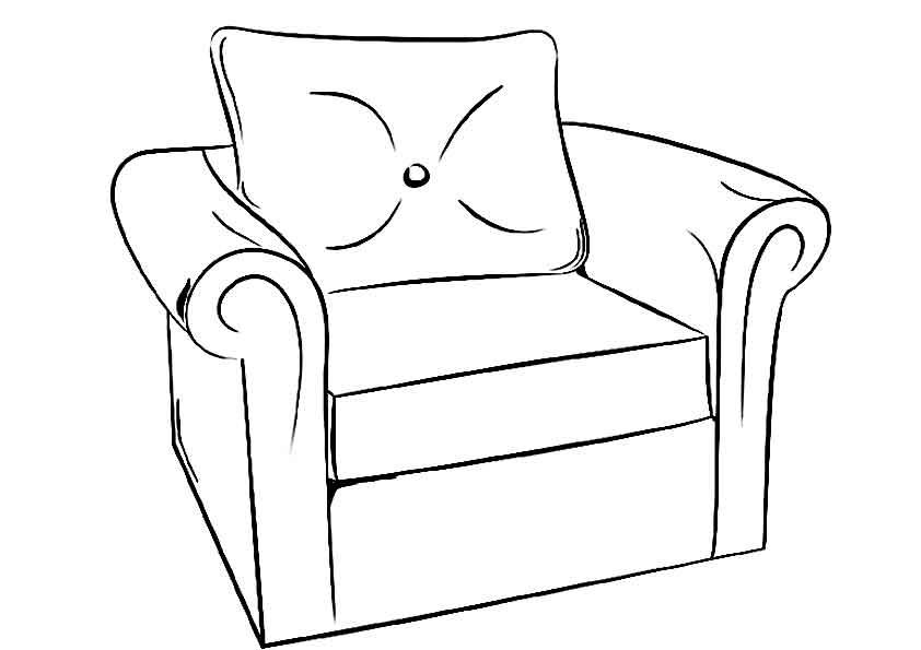 Кровать картинка рисунок