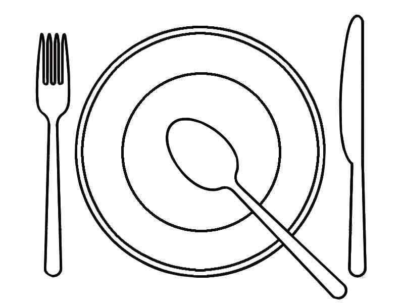 Раскраска чашка и блюдце