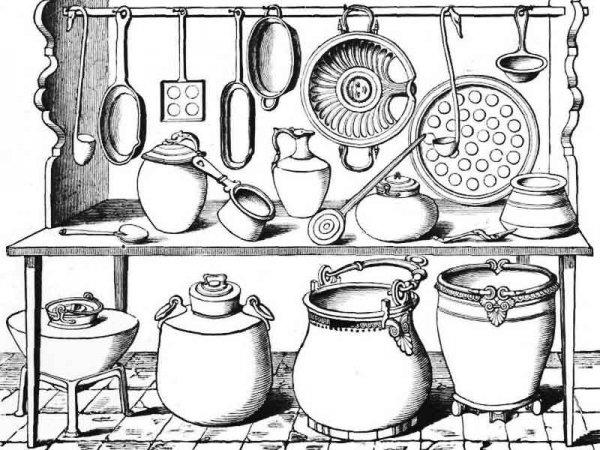 Посуда. Раскраски