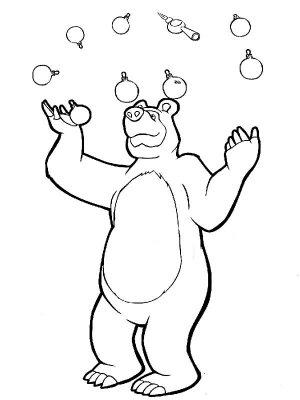Мультфильм маша и медведь картинки раскраски 14