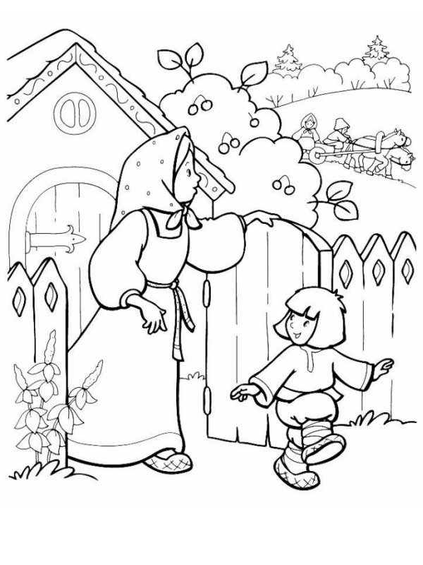 spanish folktale coloring pages - photo#9
