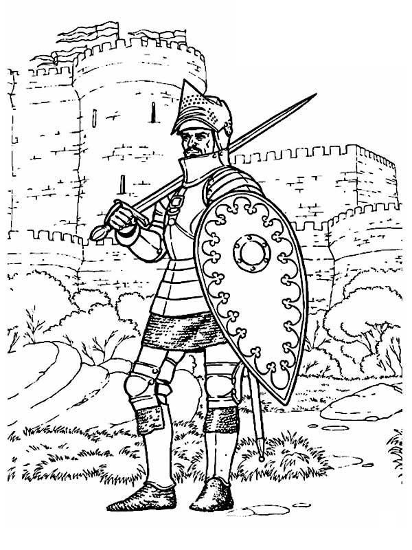 Рисунок крестоносец