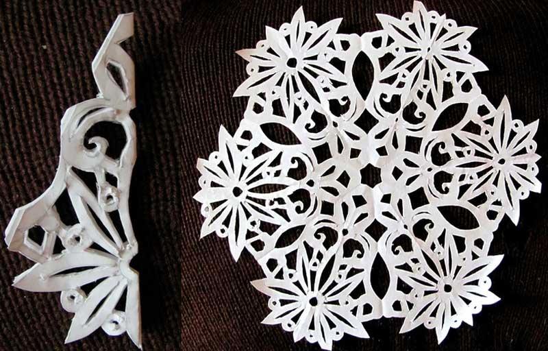 Большие объемные снежинки из бумаги своими руками фото
