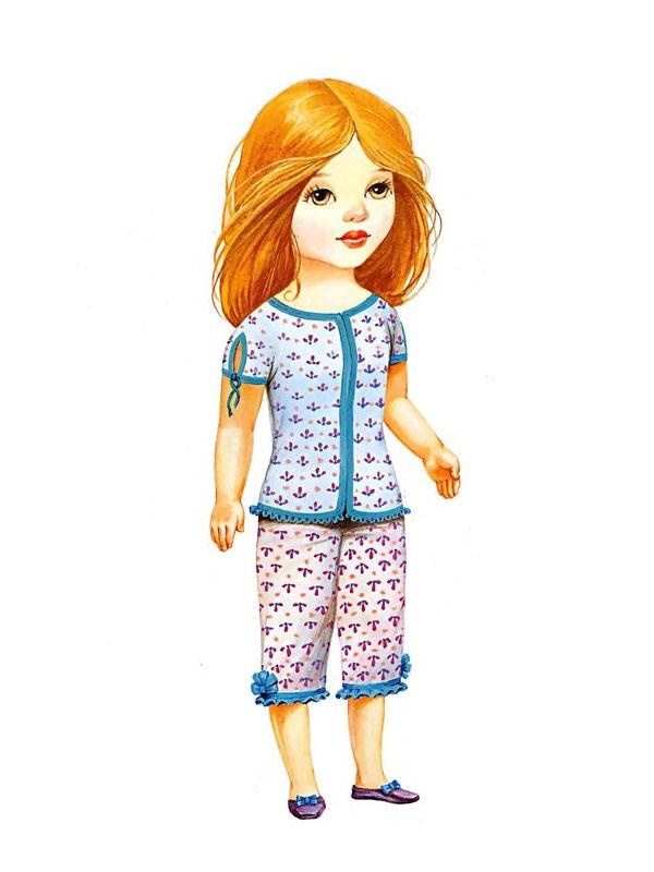 Кукла и одежда из бумаги