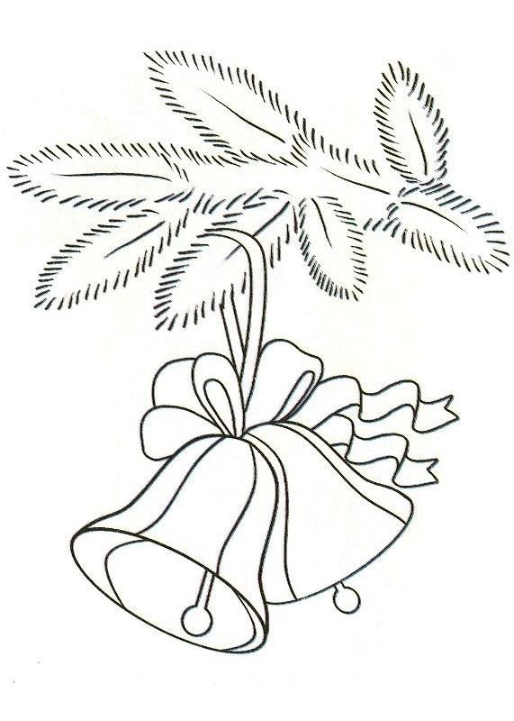 Раскраска ветки елки