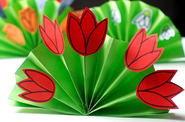 4 класс цветок из бумаги