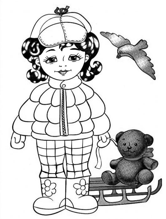 Одежда для куклы раскраска