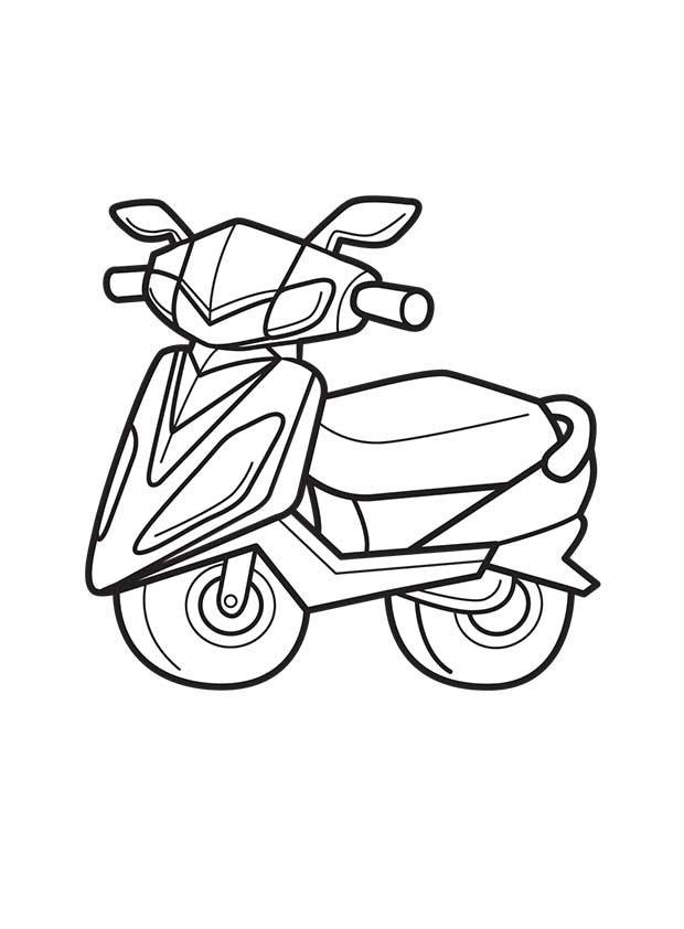 Раскраска скутер