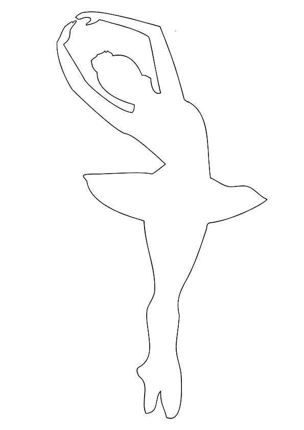Шаблон балерины для вырезания скачать