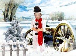 Фотография-открытка с новым годом