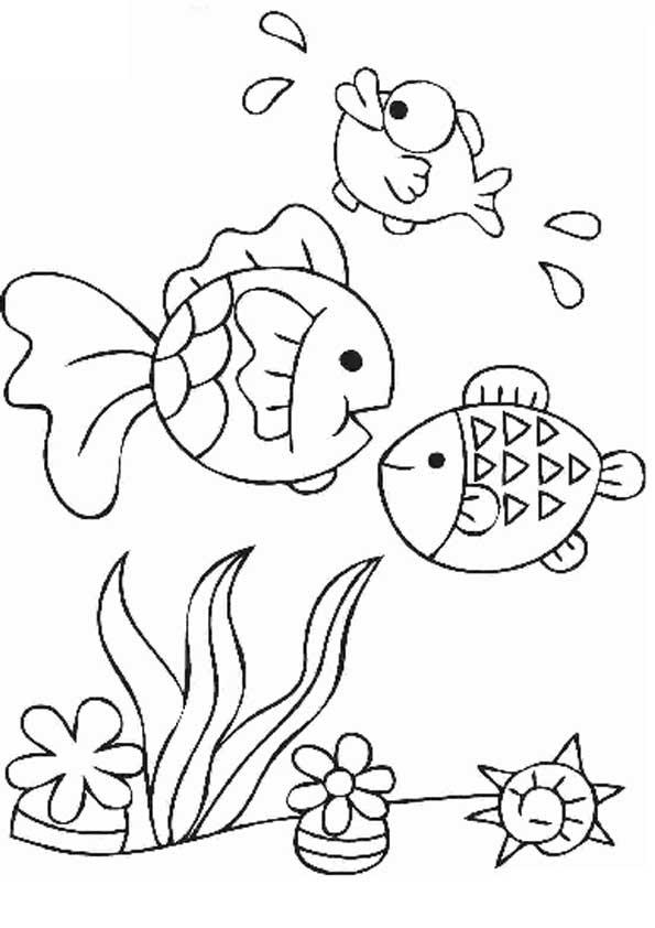 Морская тема раскраски