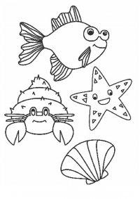 Морские раскраски