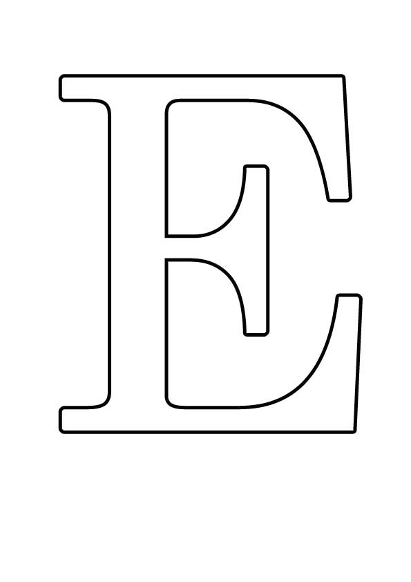 трафареты букв для вырезания из бумаги а4