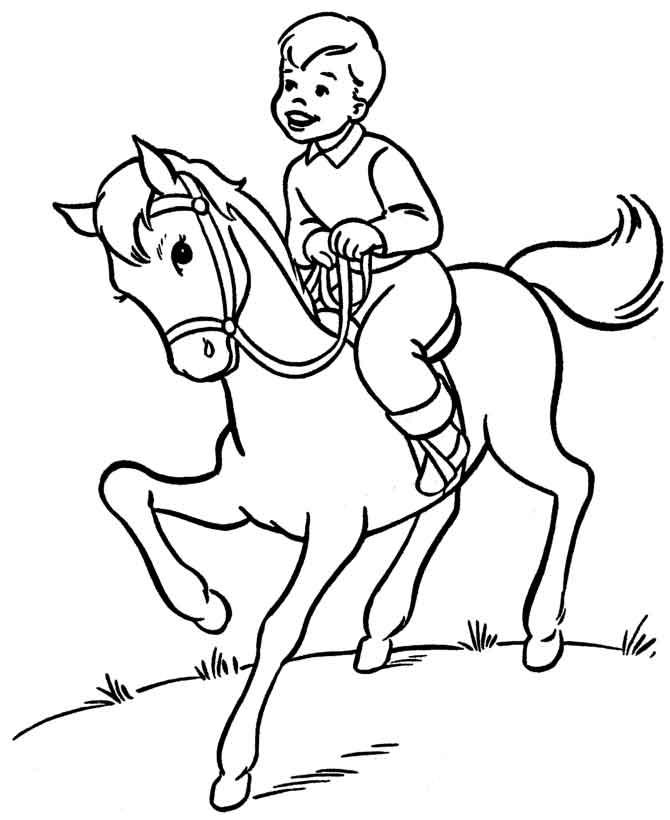 Мальчик верхом на коне
