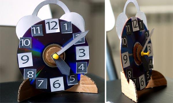 Часы из старых дисков