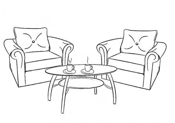 Мебель. Раскраски