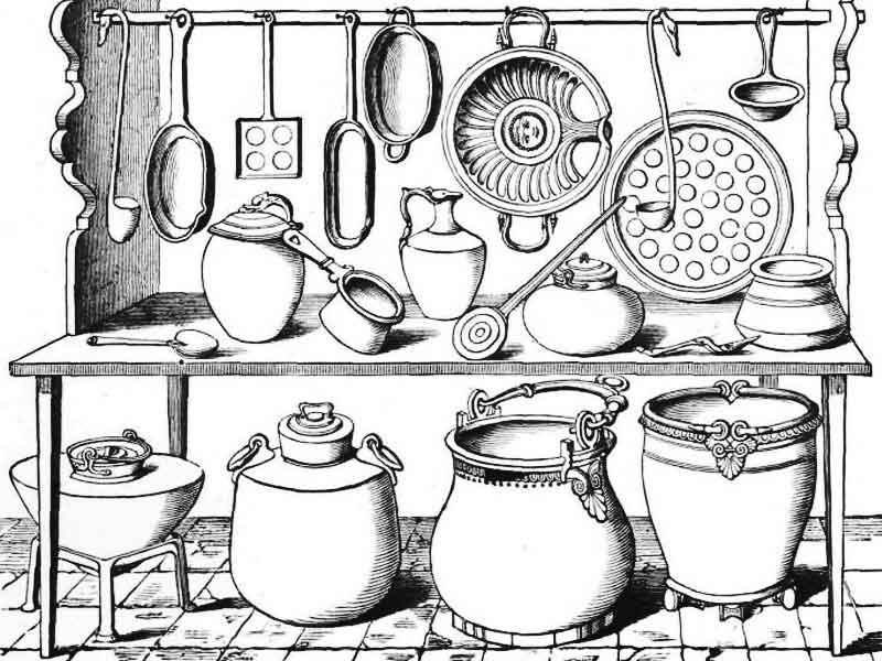 посуда картинки для раскрашивания тарелки вилки ножи чашки