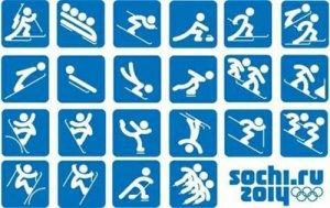 Пиктограммы олимпийских игр Сочи 2014