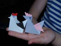 Курица. Оригами к Пасхе