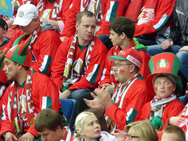 Мы на чемпионате мира по хоккею в Минске