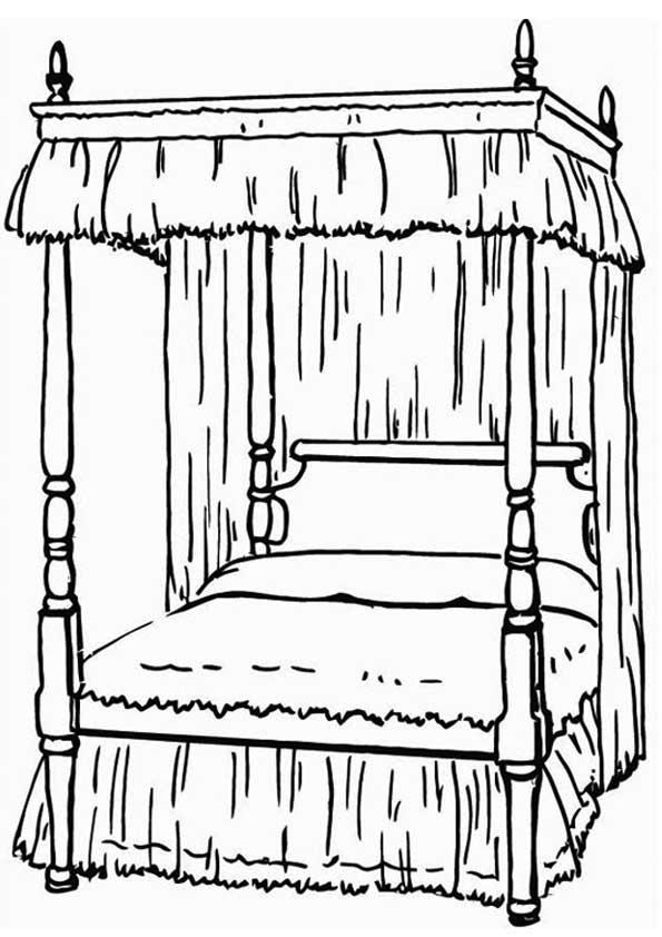 Кровать. Раскраска