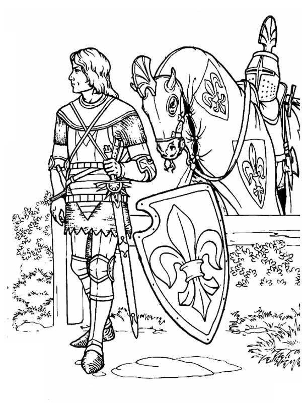 раскраски рыцари для мальчиков распечатать бесплатно
