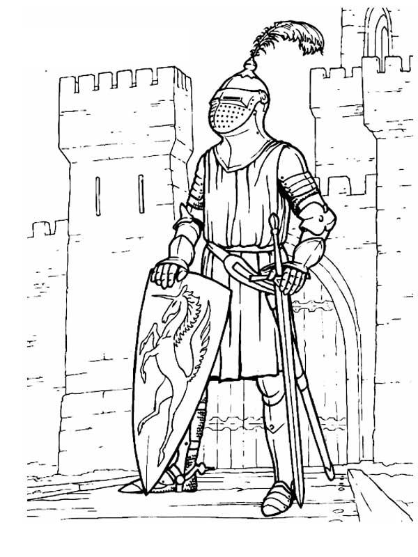 Замок рыцаря раскраска