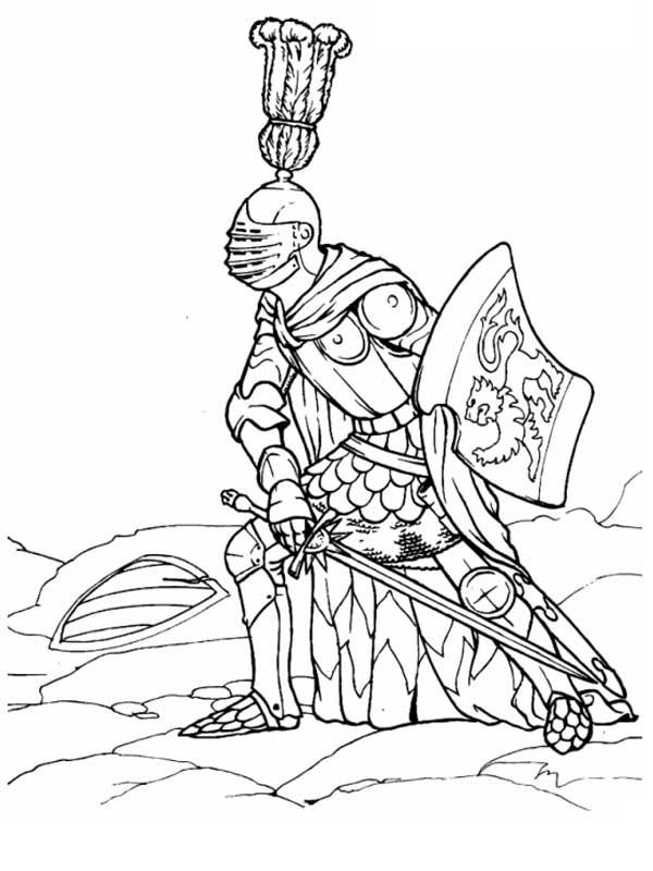 Рыцарь. Раскраска
