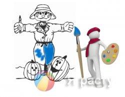 Коллекция раскрасок к Хеллоуину