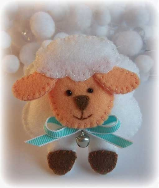 Овца из фетра