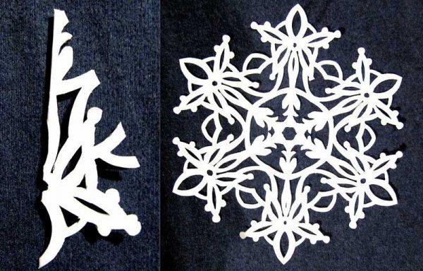 И еще схемы снежинок
