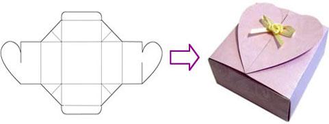 схема коробки из картона