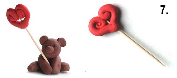медвежонок из пластилина
