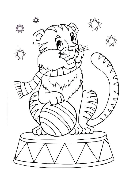рисунок цирковые животные его кот помогут