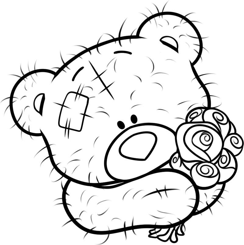 Рисовать карандашом картинки мишки тедди