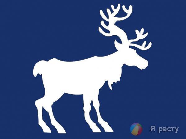 Рождественские олени. Вытинанка