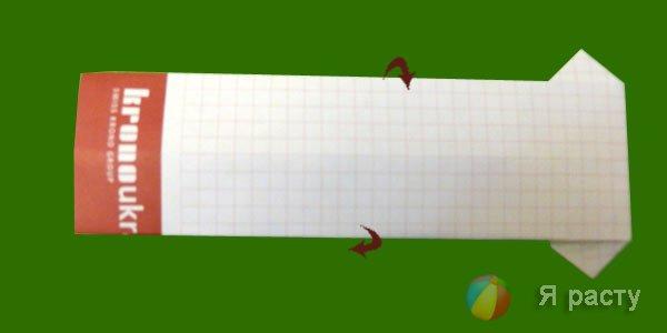 Рубашка из бумаги в стиле оригами