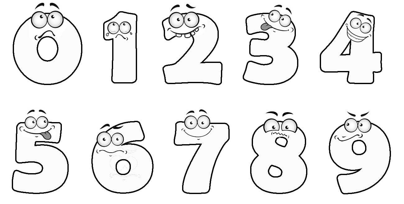 Выпускнице, рисунки детей веселые цифры