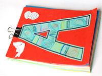 Блокнот с алфавитом своими руками